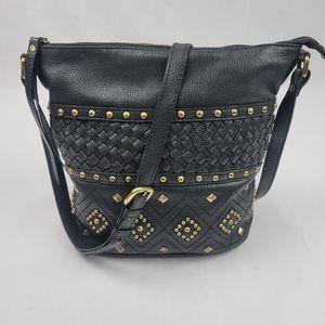 Genuine Leather Sharif gold studded bag